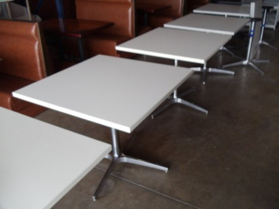 "36"" X 36"" Grey Laminate Square Table"