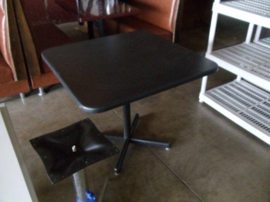 """36"""" X 36"""" Black Laminate Table"""