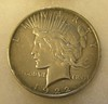 1922D Lady Liberty Peace Silver Dollar in fine condition