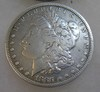 1885 Morgan silver dollar in fine condition