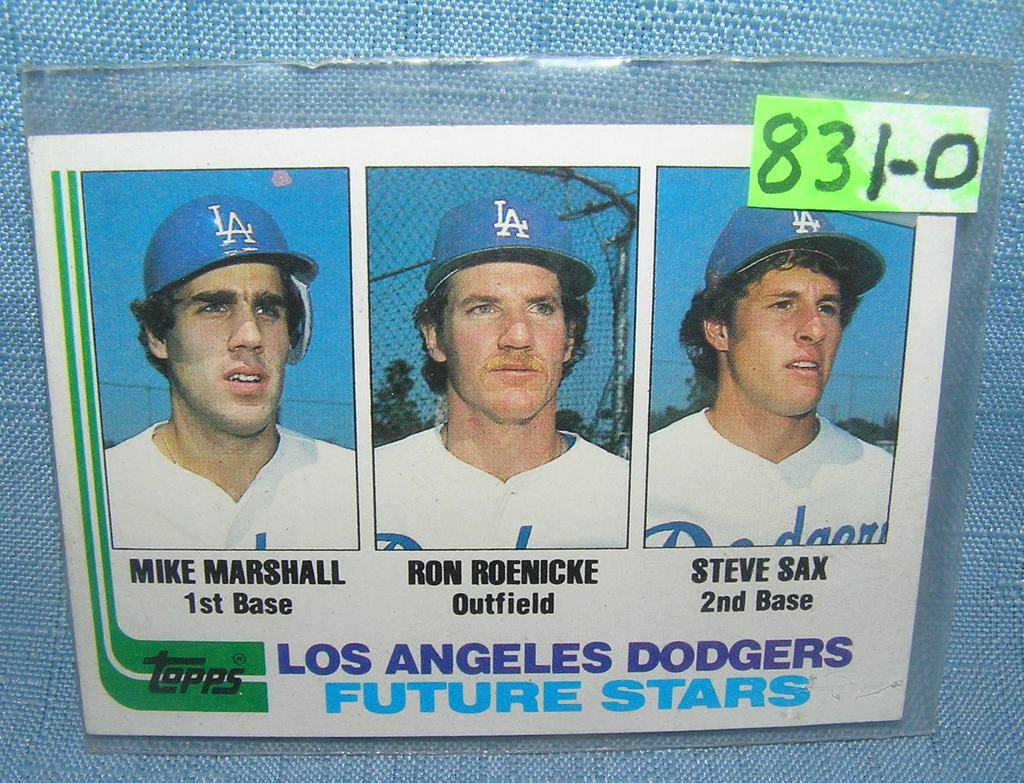 Lot Mike Marshall Steve Sax And Ron Roenicke Rookie