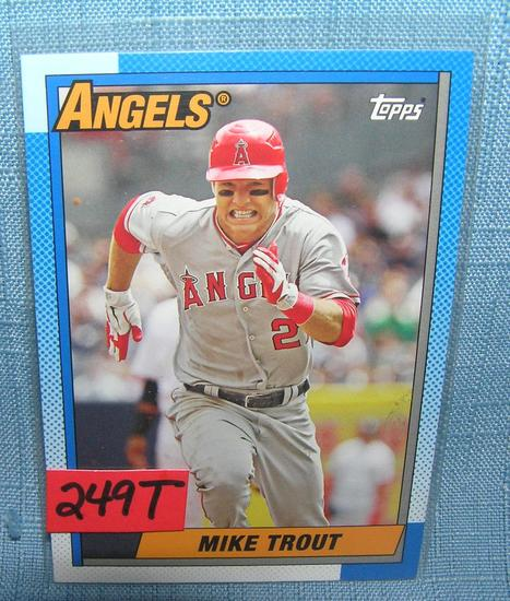Mike Trout 2nd Year All Star Baseball Card Art Antiques
