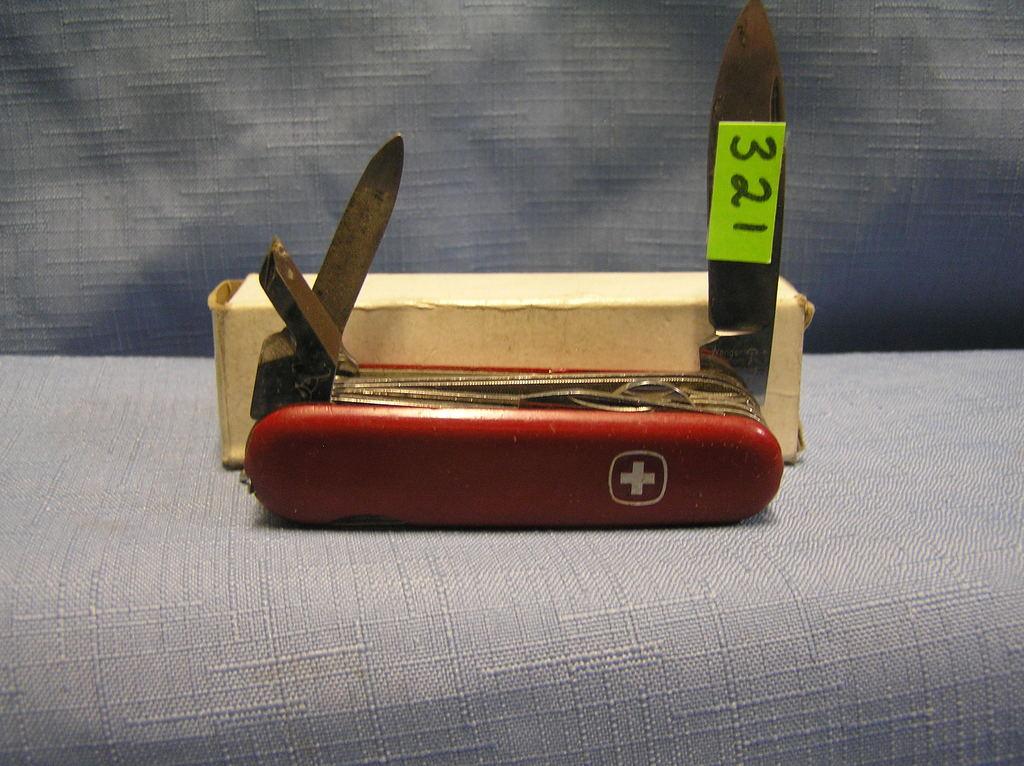 Vintage Swiss Army knife with original box