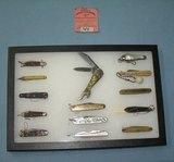 Collection of great early miniature pocket knives