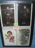Group of early military themed and Golliwog post cards