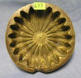 Heavy solid brass Trench Art ash tray  WWII