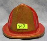 fire dept helmet shaped display/paperweight