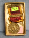 Early fire department award medal and ribbon