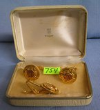 Set of quality fireman cuff links and tie clasps