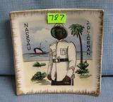 Vintage Bahamian policeman souvenir dish