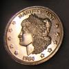 Morgan head 1 troy ounce silver commemorative coin