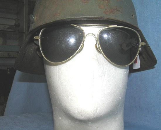 Pair of signed Foster Grant aviator sunglasses