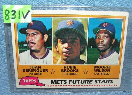 Mookie Wilson and Hubie Brooks rookie baseball card