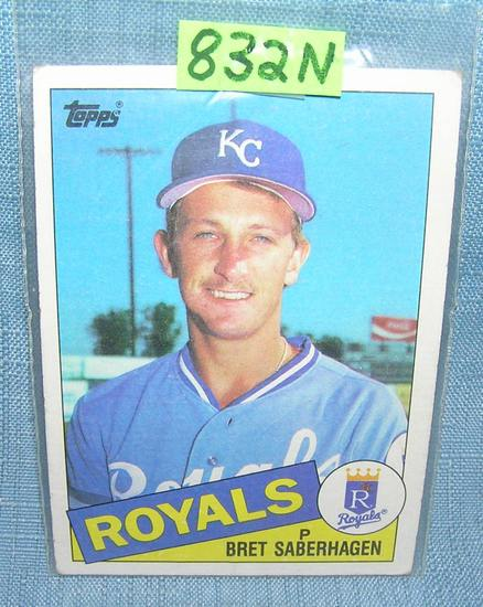 Bret Saberhagen rookie baseball card