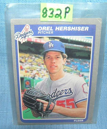Orel Hershiser rookie baseball card
