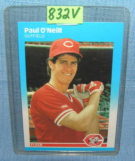 Paul O'Neill rookie baseball card