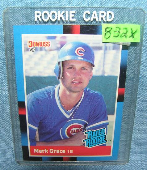 Mark Grace rookie baseball card