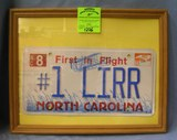 Vintage LIRR North Carolina license plate