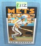 Lenny Dykstra rookie baseball card