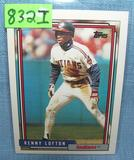 Kenny Lofton rookie baseball card
