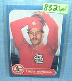 Todd Worrell rookie baseball card