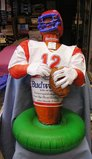 inflatable Budweiser football player store display