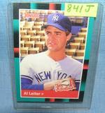 Vintage AL Leiter rookie baseball card