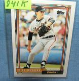 Vintage Mike Mussina rookie baseball card