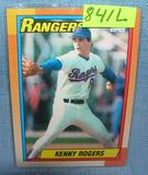 Vintage Kenny Rogers rookie baseball card