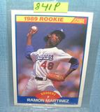 Vintage Ramon Martinez rookie baseball card