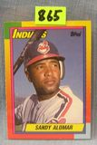 Vintage Sandy Alomar rookie baseball card