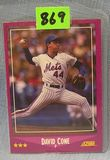 Vintage David Cone rookie baseball card