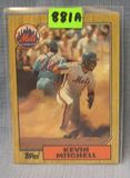 Vintage Kevin Mitchell rookie baseball card