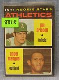 Rookie baseball card: Driscoll and Mangual