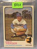 Vintage Steve Yeager rookie baseball card