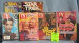 Vintage Star Trek TV guides and comics