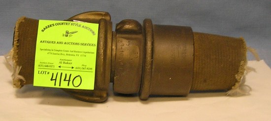 Antique fire hose coupling kit by the Acrin Brass Co.