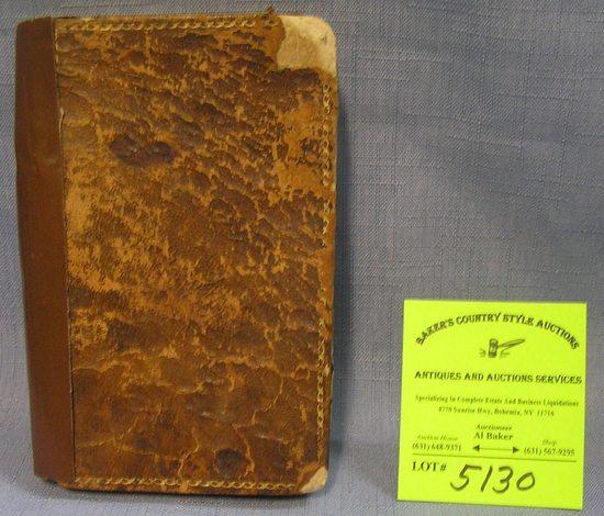 Antique leather book