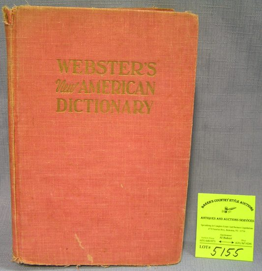 Vintage Webster's new American dictionary