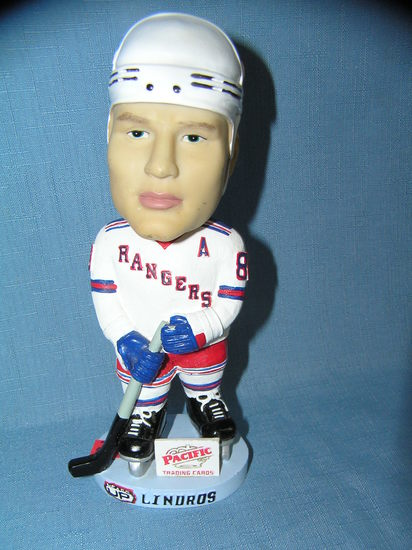 Eric Lindros New York Rangers bobble head figure