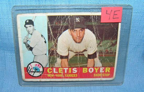 Cletis Boyer NY Yankees all star baseball card
