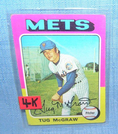 Vintage Tug McGraw NY Mets all star baseball card