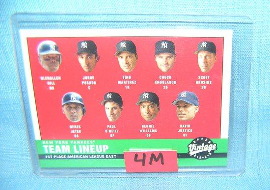 Derek Jeter and the NY Yankees all star baseball card