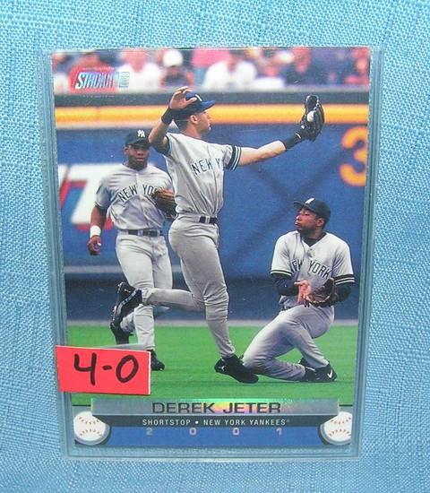 Vintage Derek Jeter all star baseball card