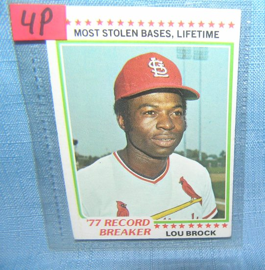 Vintage Lou Brock baseball card