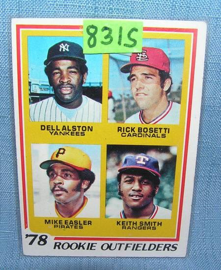 Dell Austin, Mike Easler rookie baseball card