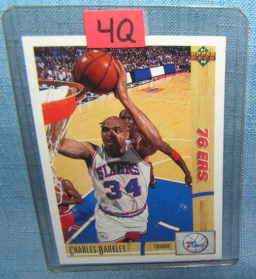Vintage Charles Barkley all star basketball card
