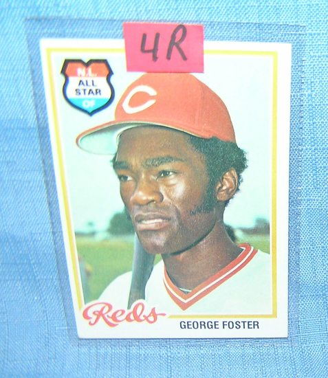 Early George Foster all star baseball card