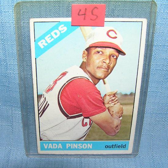 Vada Pinson all star baseball card