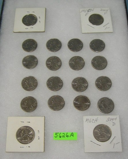 Group of US state quarters